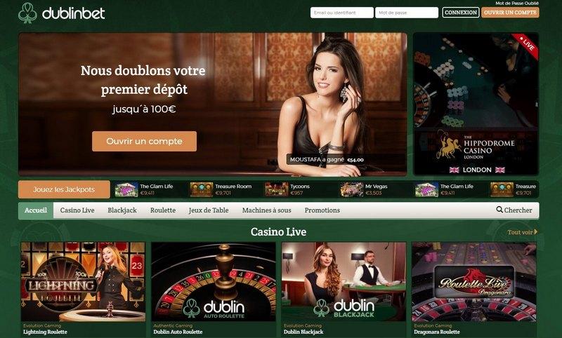 Bonus du dublinbet Casino