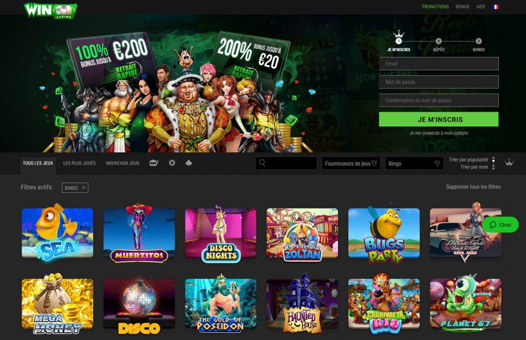 bingo gratuit au casino WinOui