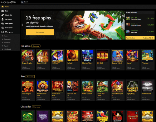 Black Diamond free spins