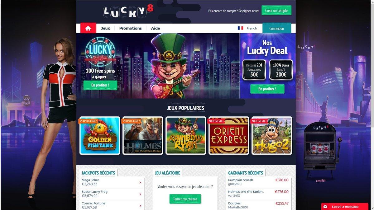Jeux Lucky8 Casino